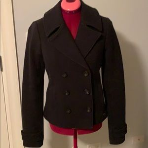 Abercrombie & Fitch Navy Classic Peacoat